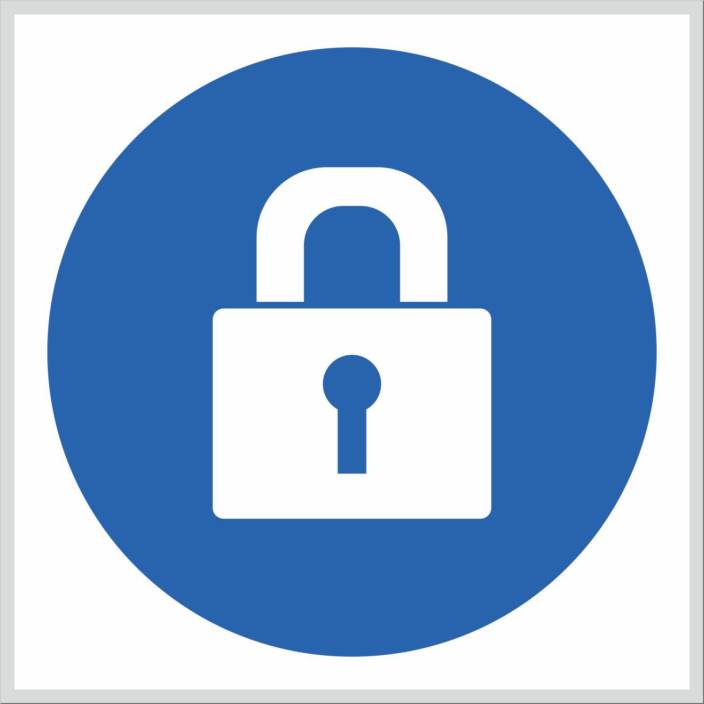 Skylt   Dörren skall vara låst   PIKTOGRAM – DalSign